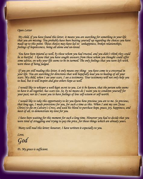 Letter Of God Open Letter From God