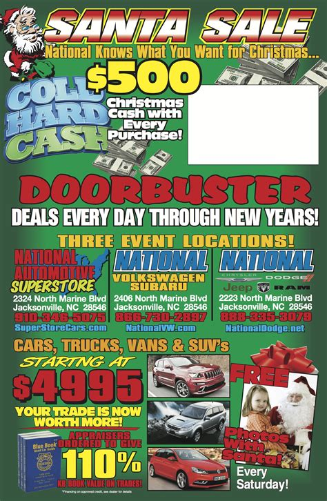 newspaper car ads christmas sales events for car dealers instant events