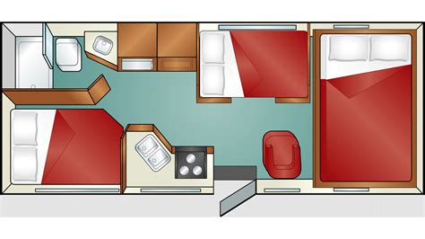 Double Wide Floor Plans With Photos Standard C 25 Cruise America Motorhome Rent A Motorhome