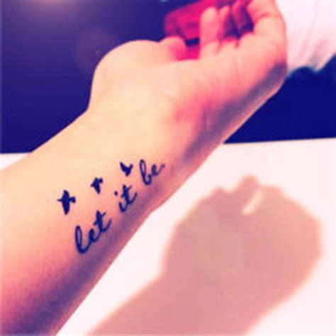 let it be tattoo on wrist 32 fabulous let it be wrist tattoos