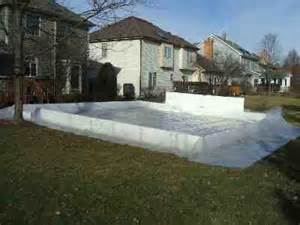 Backyard Ice Rink Liners by Backyard Ice Rinks Liner Method