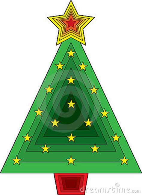 triangle christmas tree stock photography image