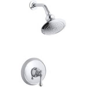shop kohler revival polished chrome 1 handle shower faucet