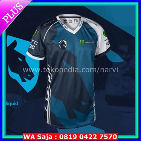 Baju Jersey Gaming Team Dota 2 25 jersey jersey team liquid 2017 blue baju kaos polo gaming