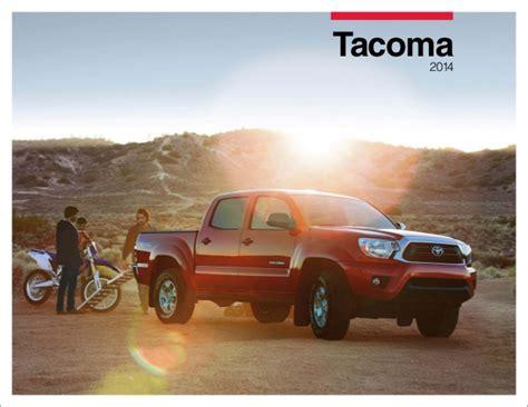 2014 Toyota Brochure 2014 Tacoma Brochure Autos Weblog