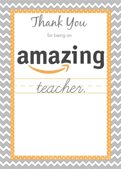 teacher appreciation gift cards - Amazon Gift Card Printable For Teacher