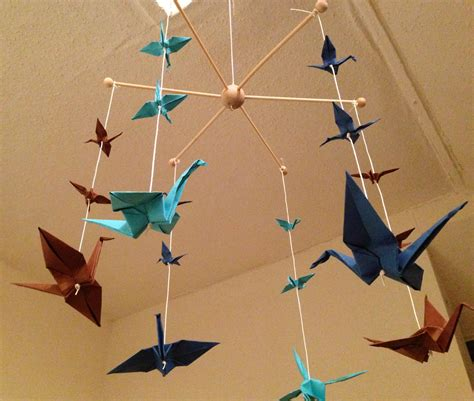 Origami Bird Mobile - diy with