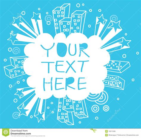 doodle free text option city doodle royalty free stock images image 19571599