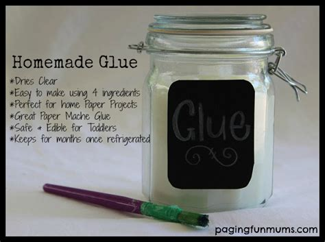 How To Make Paper Mache Without Glue Or Flour - glue recipe thifty sue