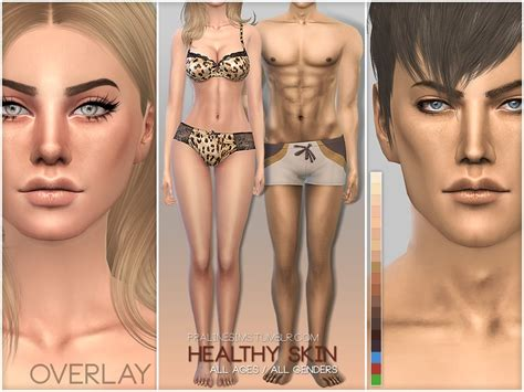 cc sims 4 female skin pralinesims ps healthy skin overlay