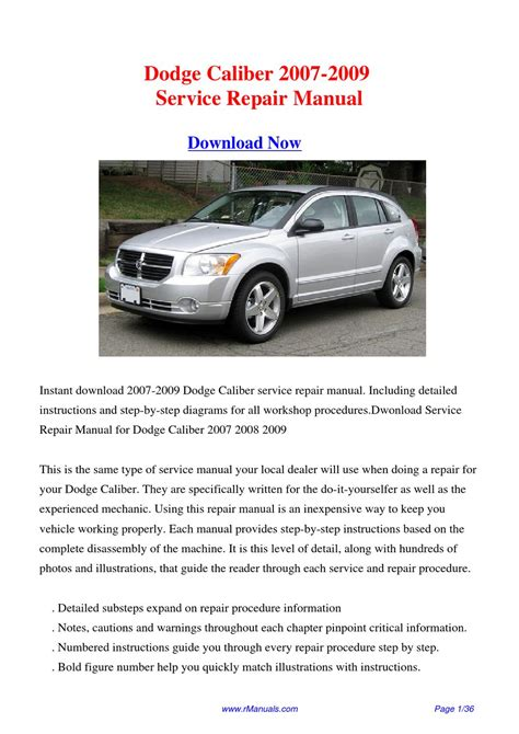 car repair manual download 2007 dodge caliber spare parts catalogs 28 2009 dodge caliber service manual download 65654 dodge caliber service repair manual