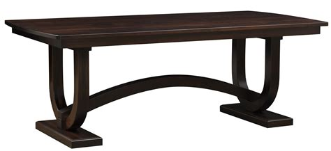 trestle dining room table amish georgetown double trestle dining table
