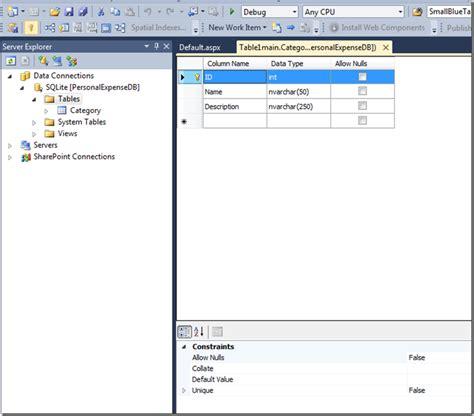 design html visual studio something on net edit sqlite database using visual