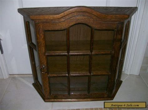 Antique/Vintage All Wood (Oak?) Large Curio Wall Display