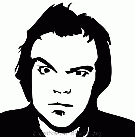 stencils of famous faces www famous celebrities stencils pictures to pin on pinterest