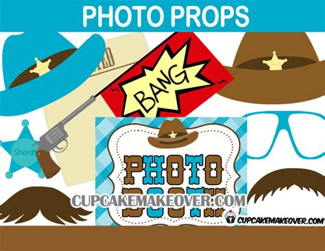 free printable photo booth props cowboy cowboy photo booth props western party instant download