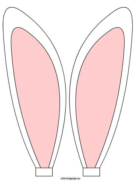 bunny ears headband template headband clipart easter bunny ear pencil and in color