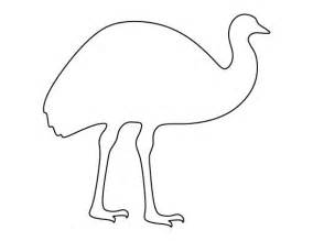 Emu pattern use the printable outline for crafts creating stencils