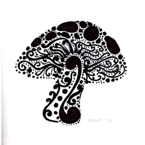 swirly mushroom c ink drawing i laureski kolaure