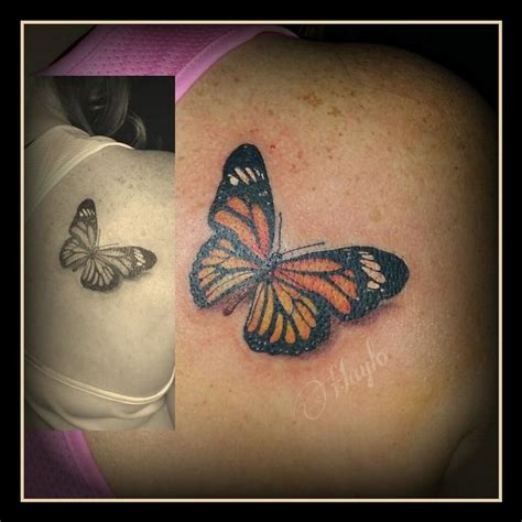 lucky bamboo tattoo tattoos realistic realistic butterfly by haylo tattoonow