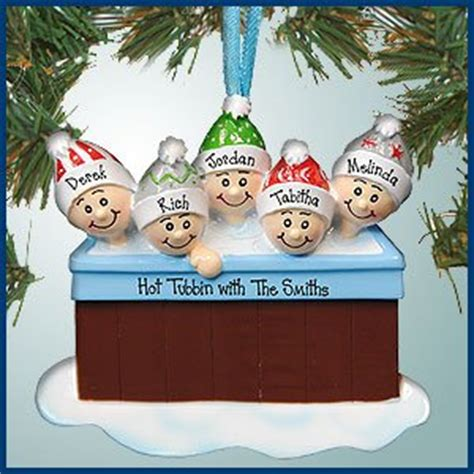 amazon com personalized christmas ornaments hot tub