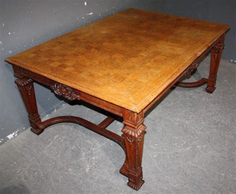 antique oak dining table extends to 119 c 1890