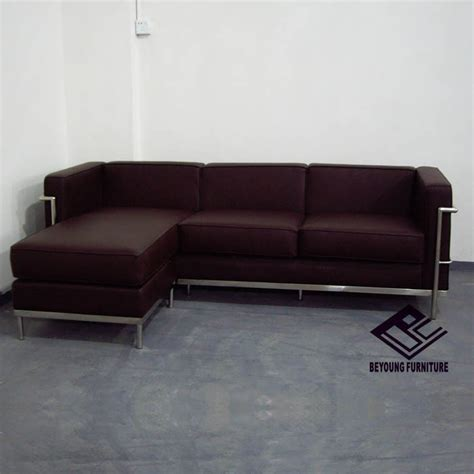 small corner sofa leather modern classic series lc2 small corner sofa living