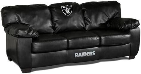 Raiders Furniture by Oakland Raiders Leather Classic Sofa