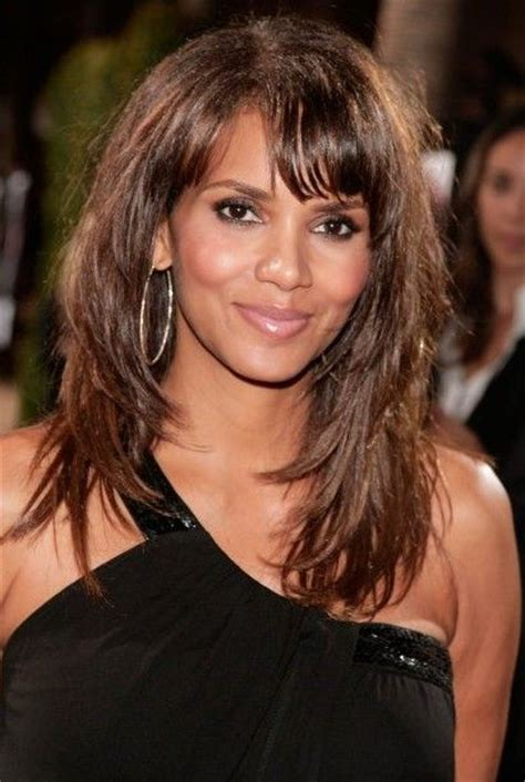 layered hairstyles with bangs for african americans that hairs thinning out hair cut halle haley berry halle berry layered long