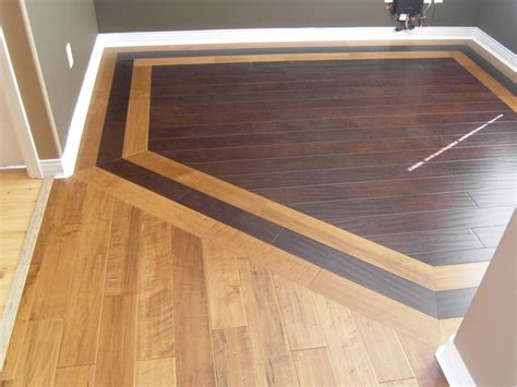 Hardwood Floor Borders Ideas Hardwood Border Design Idea For Combining Two Different Woods Remodel Border