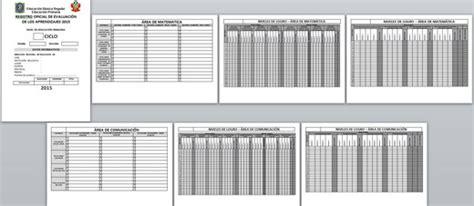 registro auxiliar 2do grado de primaria 2016 registro oficial de evaluaci 211 n 2015 registro auxiliar