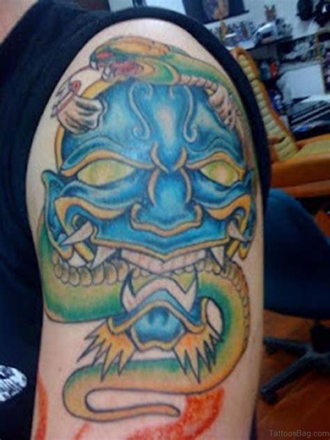 hannya mask tattoo shoulder 60 gorgeous mask tattoos for shoulder