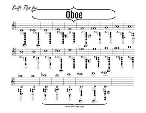 oboe diagram reed musicians will enjoy this printable musical