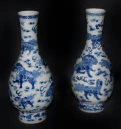 antiques atlas pair of blue and white vases