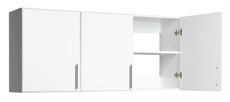 wall storage cabinets with doors prepac elite home storage 54 in 3 door wall cabinet wew 5424