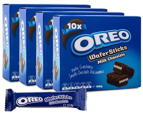 Oreo Wafer Sticks Milk Chocolate 4 x oreo wafer sticks milk chocolate 128g scoopon shopping