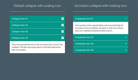 bootstrap layout collapse material design bootstrap accordion coding fribly