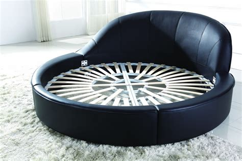round leather bed b807 modern round eco leather bed