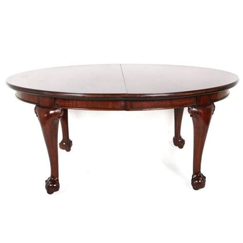 chippendale dining room table english mahogany chippendale revival oval dining table