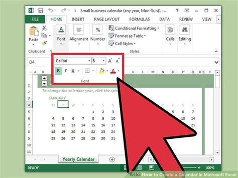 how to make a picture calendar how to create a calendar in microsoft excel with pictures