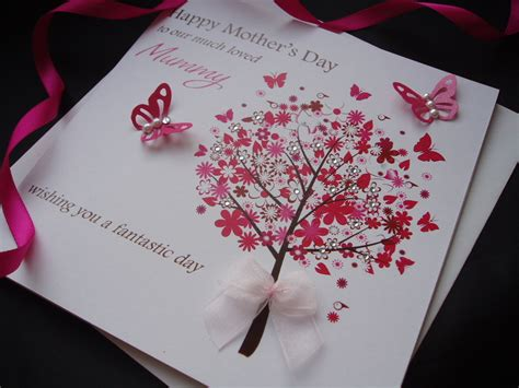 homemade mothers day card mothers day cards personalised handmade mothers day