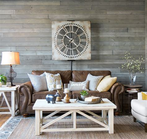 Living Room Furniture Ideas Tips A Farmhouse Living Room That Will Make You Want A Brown Sofa Schneiderman S The