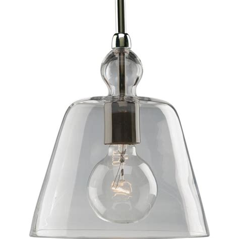 Progress Lighting Polished Nickel 1 Light Pendant The Polished Nickel Pendant Lights