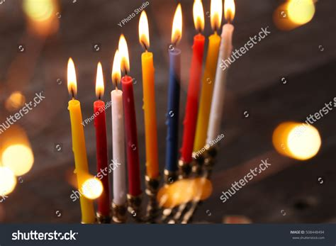 jewish festival of lights hanukkah jewish festival lights stock photo 508448494