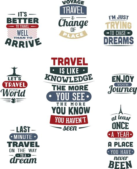 Travel T Shirt Templates Set Vector Free Download Free Typography Templates