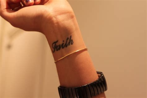 faith tattoo for wrist