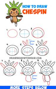 How To Draw A Step By Step Easy How To Draw Chespin From Easy Step By Step Drawing