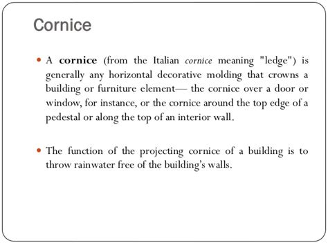 cornice definition what is the meaning of cornice driverlayer search engine