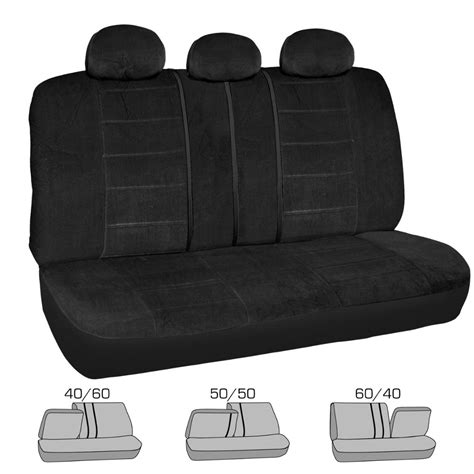 front bench seat black velour front bench seat cover classic fabric