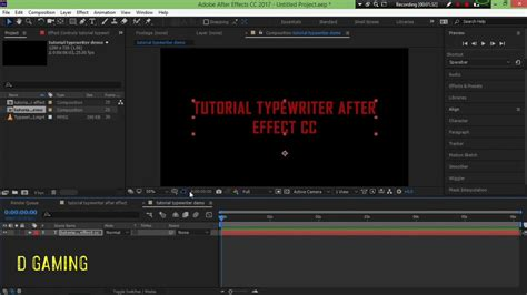 tutorial after effect 2017 tutorial typewriter di after effect cc 2017 youtube
